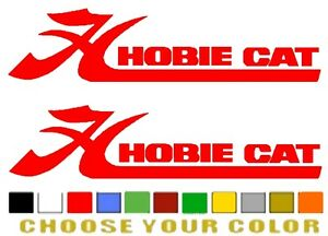 Hobie Cat Boat Sticker Decal any Size Or Color Available