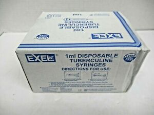 Exel Disposable Syringes Model 1ml Luer Slip Tip W 27g X 1 2