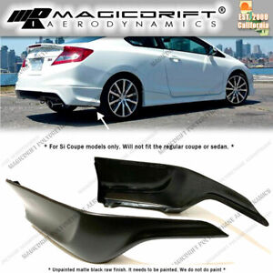 For 12 13 Honda Civic 9th Gen Coupe Si Hfp Style Rear Bumper Corner Lip Spats