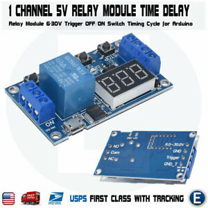 1 Channel 5v Relay Module Time Delay Relay Module Trigger Switch Timing Cycle