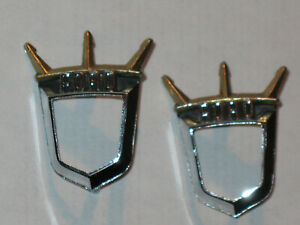 1955 1956 Ford Tbird Oem Ford Crest Retainer Emblems 1 Pair Nice Box 300