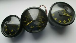 Porsche 924 944 Instrument Cluster Clocks Speedo Vdo Kombiinstrument Yellow