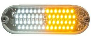 Buyers Sl68ac Ultra Bright 6 Inch Oval Led Strobe Light amber Clear