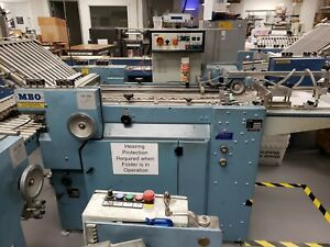 Mbo Paper Folder B20p 4 4 20 Pile Feed With Delivery And Batch Counter