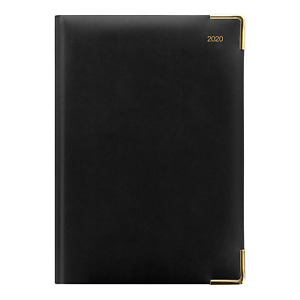 Letts 2020 Classic Daily Planner With Gold Corners Black 8 25 X 5 875 Inches