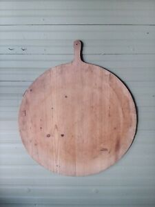 Vtg Antique Primitive Large Wooden Bread Cutting Board