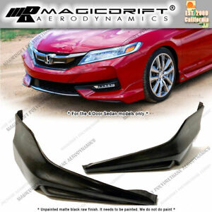 For 16 17 Honda Accord 4dr Sedan Hfp Style Oe Sport Front Bumper Corner Lip Kit