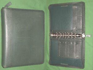 Classic 1 5 Green Top Grain Leather Franklin Covey Quest Planner Binder 4328