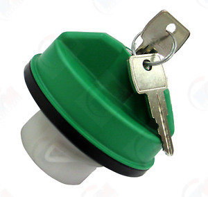 Diesel Locking Fuel Tank Gas Cap With Keys Green For Ford Super Duty 6 7l Diesel