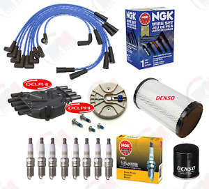 Delphi Tune Up Kit ngk Wires Plugs For 1996 1999 Chevrolet C1500 C2500 5 7l