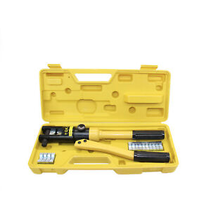 Hydraulic Wire Battery Cable Lug Terminal Crimper Crimping Tool 8dies 12 Ton
