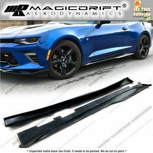 For 16 18 Chevy Camaro Mdp Zl1 Style Side Skirt Rocker Panel Extension Lips