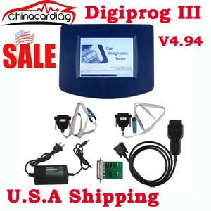 Digiprog 3 V4 94 Car Diagnostic Tool Odo meter Programmer With St01 St04 Cable