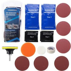Professional Car Beauty Headlight Lens Restoration Repair Kit Polishing Cleaner