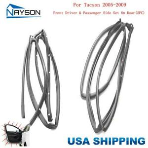 2 Front Doors Rubber Seals Weatherstrip For Hyundai Tucson 2005 2009