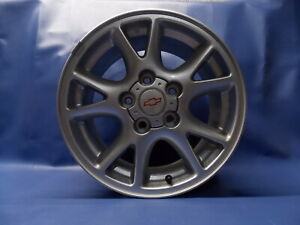 Used Genuine Gm 2000 2002 Camaro 16x8 5x4 75 Aluminum Brushed Finish Wheel W cap