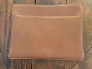 Levenger Tan Leather Rope Accordian File Letter Mint