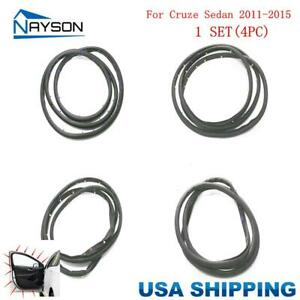 For Chevrolet Cruze Sedan 2011 2015 Door Weatherstrip 4pc Open Rubber Stripping