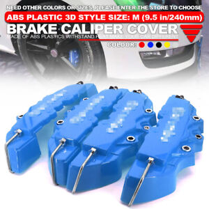 4x 240mm Disc Brake Caliper Abs Bu 3d Style Front Rear Universal Car Truck Cover