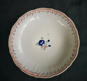 Antique Chinese Export Bowl Hand Painted Flowers China