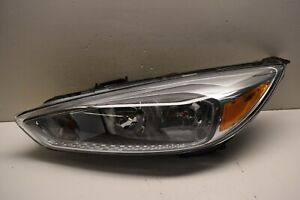 Ford Focus Lh Halogen Chrome Headlight Oem Nice No Damage 15 16 17 18 2015 2019