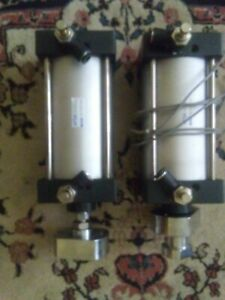 2x Airtac Air Pneumatic Cylinder Sc100x125s 100mm X 125mm Double Acting