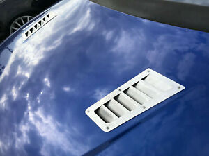 New Hood Stainless Steel Focus Rs Style Bonnet Vents Universal Lot Of 2 Pcs