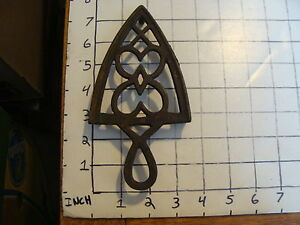 Original Vintage Cast Iron Trivet 1800 S Or Early 1900 S 26