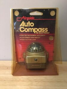 Vintage 70s 80s Airguide Scottsdale Model 1601 Auto Dash Compass Nos Unused