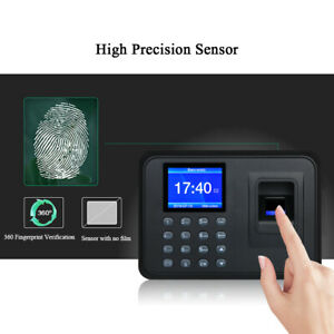 Biometric 2 4 lcd Attendance Machine Fingerprint Password Time Clock Reader J0j1