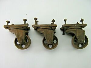 3 Antique Cast Iron 3 1 4 Diameter Swivel Casters Service Caster Co 1917