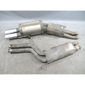 1994 1995 Bmw E34 540i Remus Stainless Steel Axle Back Exhaust Square Dual Tip