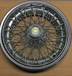 1 Oem 1986 96 Chevy Caprice Classic Brougham 15 Wire Spoke Hubcap Wheel Cover