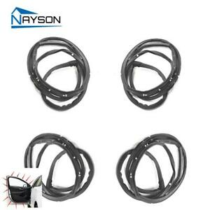 4 Doors Rubber Weather Strip Seals Set For Toyota Corolla 2009 2010