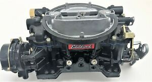 Edelbrock Marine Carburetor 1409 600 Cfm Remanufactured Black Rhino Coated