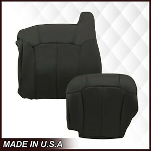 1999 2002 Chevy Silverado Gmc Sierra Synthetic Leather Seat Covers In Gray