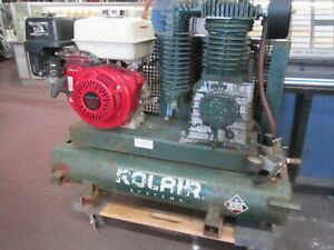 Rolair Air Cpmpressor 8422hk30 0001 9hp Portable Two Stage Gas Twin Tank Honda