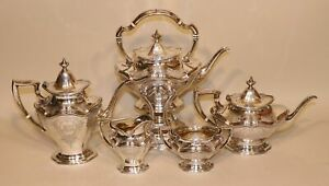 Reed Barton Hepplewhite 560c Sterling Tea Set Coffee Pot Teapot Creamer Sugar