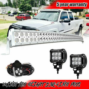 3d White 50inch Curved 672w Led Light Bar For Polaris Rzr Xp ace general ranger