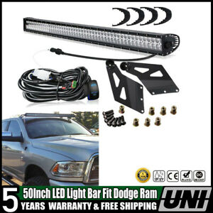 For Dodge Ram1500 2500 3500mount Brackets 2003 2009 54inch Curved Led Light Bar