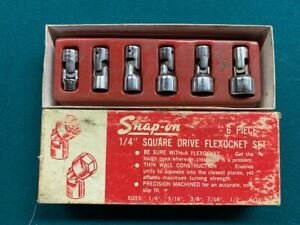 Snap On Universal Socket Set 1 4 Drive 6 Point