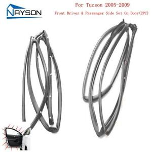 2 Front Doors Rubber Weather Strip Seals For Hyundai Tucson 2005 2009
