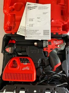Milwaukee 2504 22 M12 Fuel Brushless Hammer Drill Driver Kit In Case