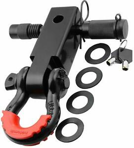 Motormic Shackle Hitch Receiver 2 5 8 Trailer Lock Pin And 3 4 D Shackle
