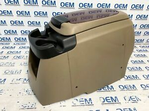99 07 Ford F 250 F 350 Center Front Floor Console Cup Holder Tan Oem