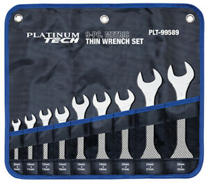 Metric Thin Wrench Set 9 Pc
