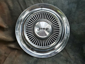 1 Oem 60 80 s Jeep 15 Stainless Steel All Metal Hubcap 4x4