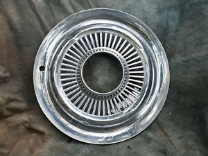 1 Oem 60 80 s Jeep 15 Stainless Steel All Metal Hubcap 4x4 Open Hole Nice