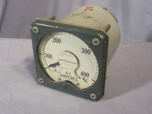 Westinghouse Ac Ammeter Amp Meter Type K A 24