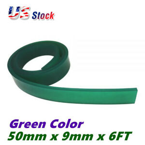 6ft 72 Silk Screen Printing Squeegee Blade 70 Duro Polyurethane Rubber